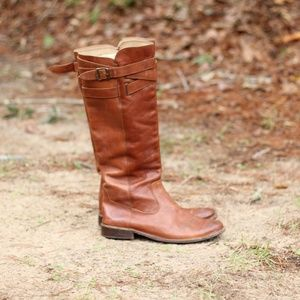 Frye | Tall Cognac Leather Riding Boots